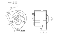 ALTERNATORE CA603IR A060