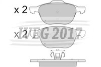 SERIE PASTIGLIE ANTERIORI FORD C-MAX (07-) 210190