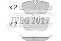 SERIE PASTIGLIE ANTERIORI BMW Serie 1/E87 5 porte/E81 3 porte 210340