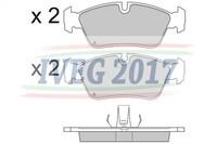 SERIE PASTIGLIE ANTERIORI BMW Serie 3/E36 (91-00) 206052