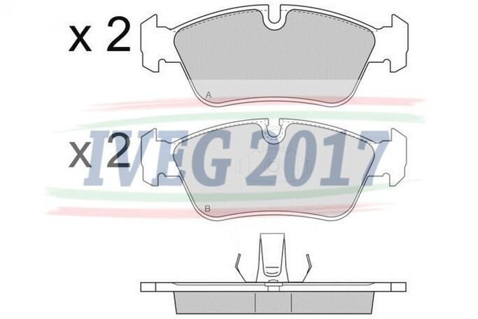 SERIE PASTIGLIE ANTERIORI BMW Serie 3/E36 (91-00)