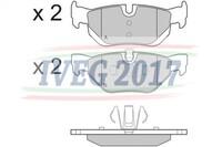 SERIE PASTIGLIE POSTERIORI BMW Serie 1/E87 5 porte/E81 3 porte (04-) 210460
