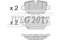 SERIE PASTIGLIE POSTERIORI BMW Serie 1/E87 5 porte/E81 3 porte 210350
