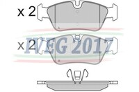 SERIE PASTIGLIE ANTERIORI BMW Serie 1/E87 5 porte/E81 3 porte (04-) 210450