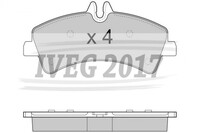 SERIE PASTIGLIE POSTERIORI MERCEDES BENZ Transporter (BM 906) SPRINTER (06-) 210810